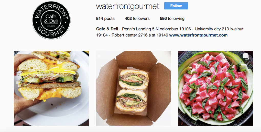 The Beauty of Instagram for a Cafe Like Waterfront Gourmet